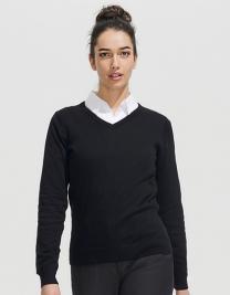 Women`s V Neck Sweater Galaxy